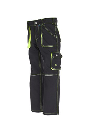 6110 Planam Junior Bundhose anthrazit/gelb (170/176) -
