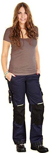 LEIPOLD+DÖHLE PROFI-X Damen Arbeitshose Bundhose,mit vielen Taschen (44, Blau) -