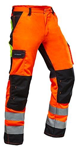 Pfanner Warnschutz Bundhose Stretchzone EN20471, Farbe:orange/schwarz;Größe:52 - 1
